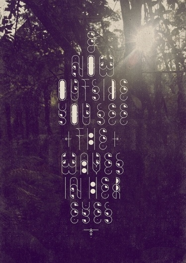 Cavin Spacey on the Behance Network #sun #tree #spacey #schulz #alex #cavin #poster #type #light #trees #typography