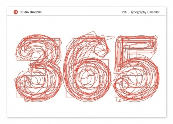 365 Typography Calendar #calendar #typeface #typography