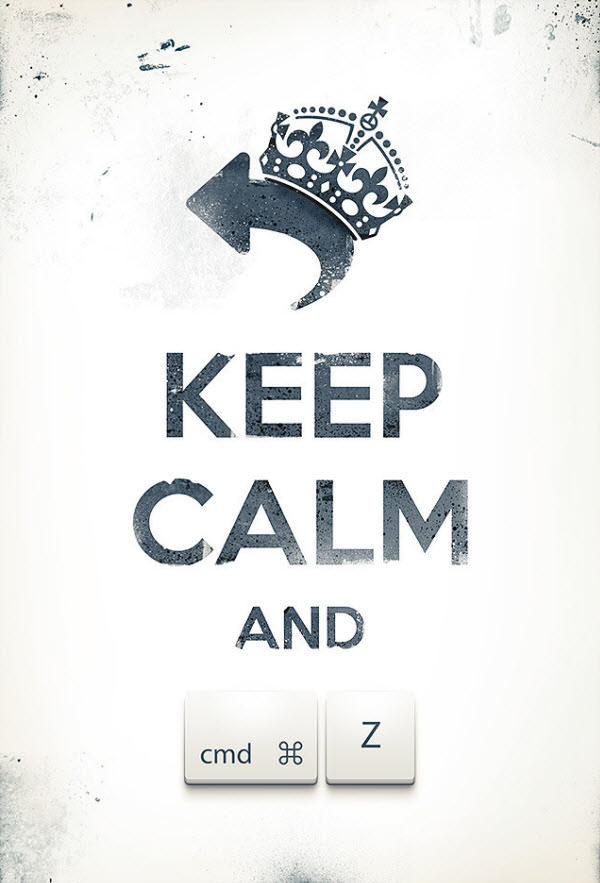 Keep Calm and CMD+Z #inspiration #design #graphic #poster #typography