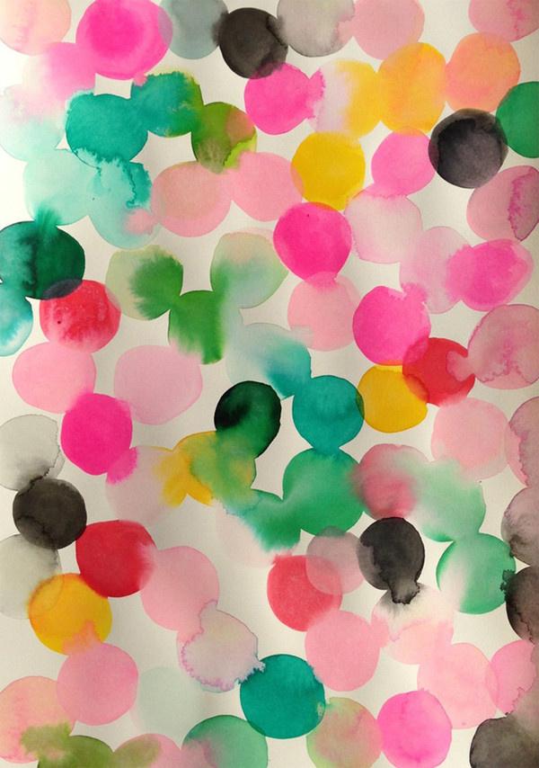 101 marieke confetti #spots #painting #confetti