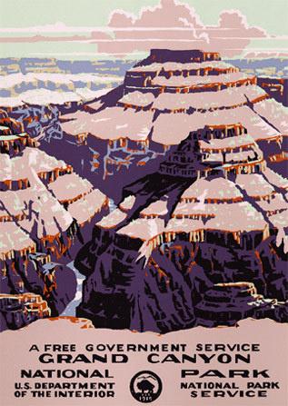 Grand Canyon National Park #arizona #grand #adventure #travel #park #national #wpa #poster #parks #canyon #desert