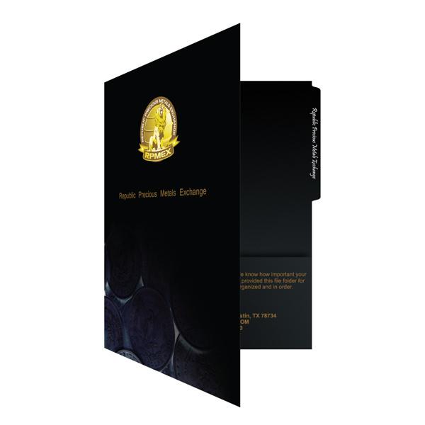 RPMEX 2-Pocket File Folder #yellow #design #black #pocket #gold #folder #cool