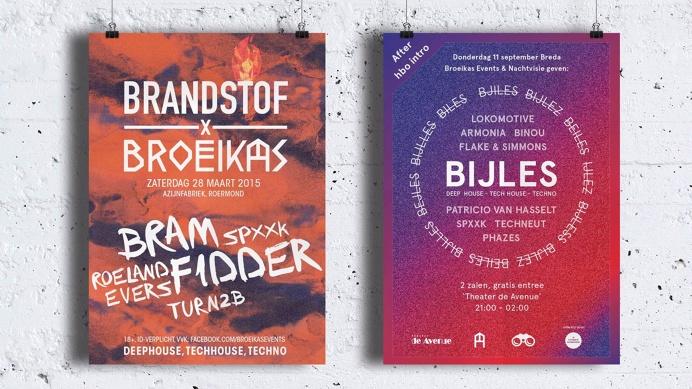 posters, techno