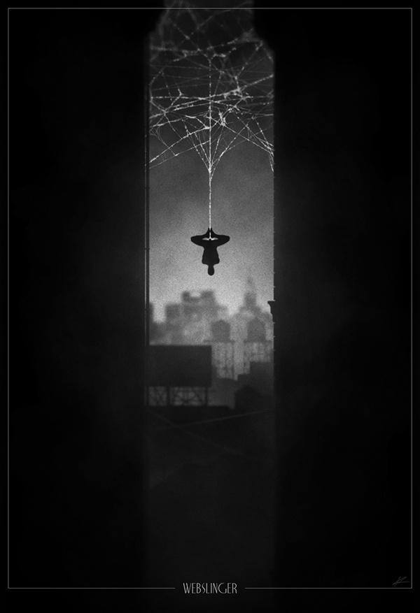 Spidey Noir Poster #movie #white #noir #spiderman #black #poster #and