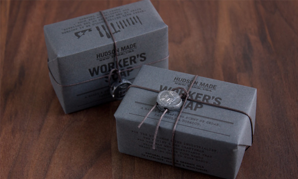 Hudson Made: Worker's Soap #packaging #logo #print