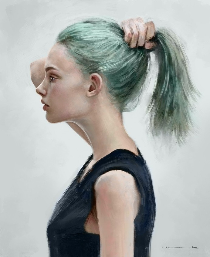 Aquamarine by imorawetz #portrait #painting