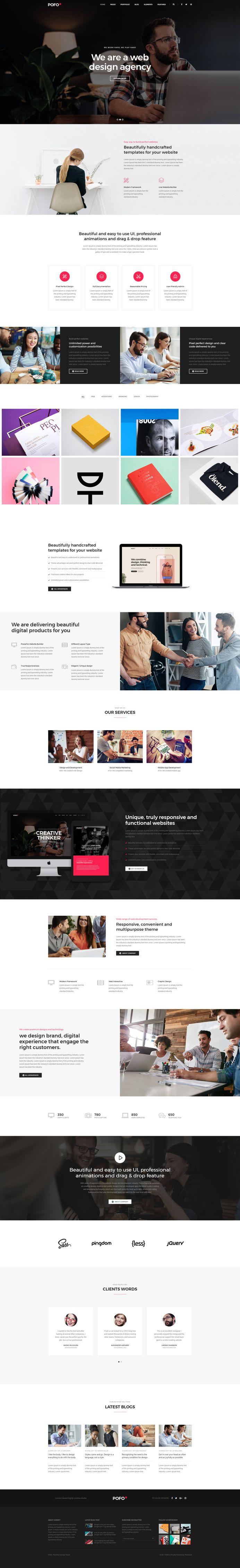 Pofo - #Creative #Portfolio and #Blog #WordPress Theme for #Corporate by #ThemeZaa