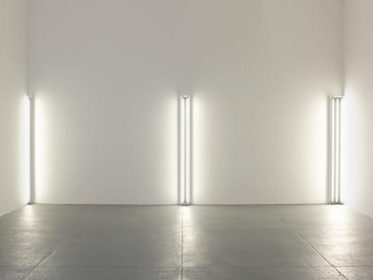 David Zwirner: Dan Flavin: the nominal three (to William of Ockham) #sculpture #fluorescent #lights #colour #light #flavin