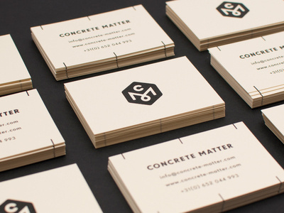Concrete Matter. #cards #business