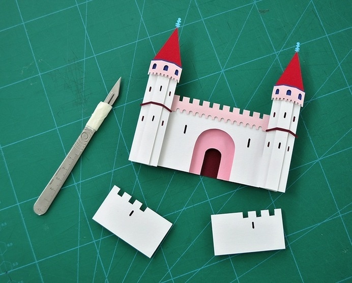 Intricately-Crafted Cut Paper Illustrations by Owen Gildersleeve #cut #castle #design #scalpel #out #craft #illustration #art #paper