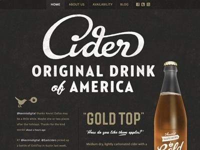 Eastciders Website by Simon Walker & Gerren Lamson #lettering #script #design #cider #website #product #web