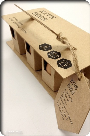 Beautifully, perfect eco-friendly egg package