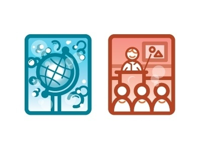 Dribbble - Icons by Steve DeCusatis #bubbles #illustration #icons