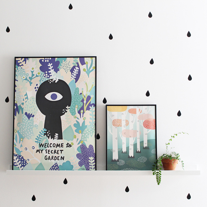#nordic #design #graphic #illustration #danish #bright #simple #nordicliving #living #interior #kids #room #poster #garden #secret #leaves