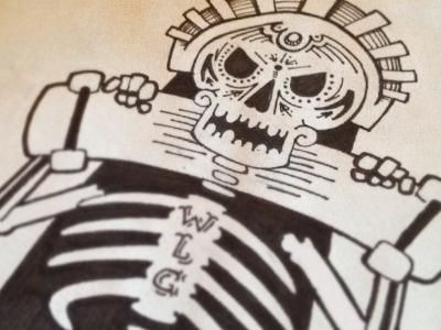 Diadelgnar #ink #drawn #skateboard #skull #hand