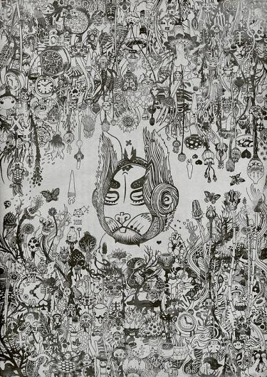 Parrellel Alice #abstract #ink #artwork #illustration #nature #wonderland #surreal #rabbit