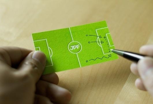 FormFiftyFive – Design inspiration from around the world » Blog Archive » Bravo Company – Junpiter Futbol #card #design #graphic #business