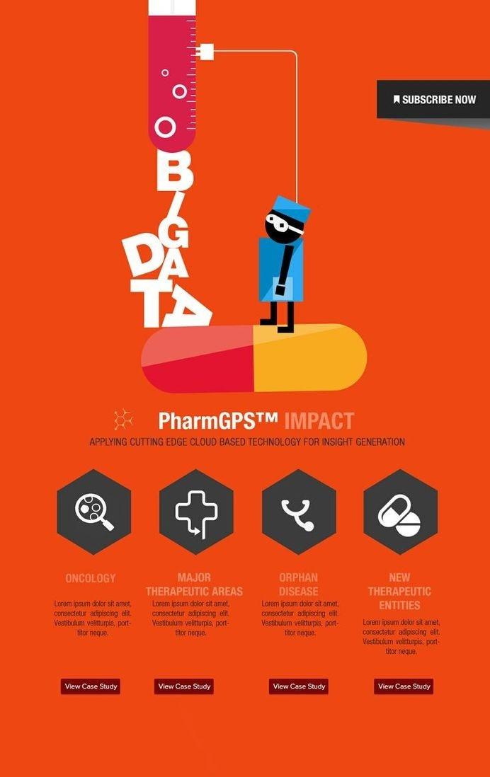 Layout (disposición) #pharma #orange #concept #layout #typography