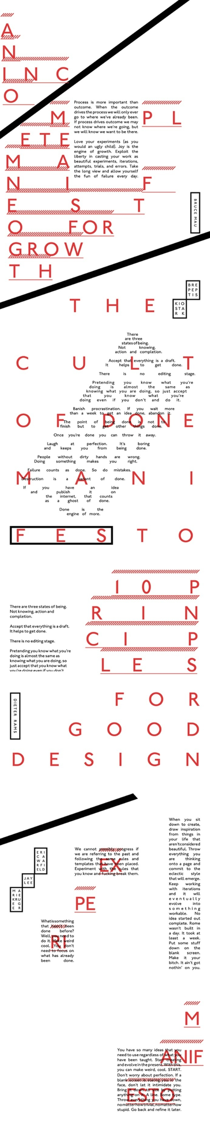 iPad magazine design manifesto #experimental #experiment #typography #layout #design #interactive #red #black #kerning #letting #erica warfi