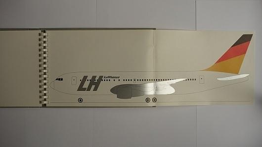 Hans G. Conrad, Tomás Gonda, Werner Scheitza: »Koncept für ein neues Corporate Design Programm Lufthansa 1986-1999« | Flickr - Photo Sharing! #print #design #graphic #book #transport #plane #shiny