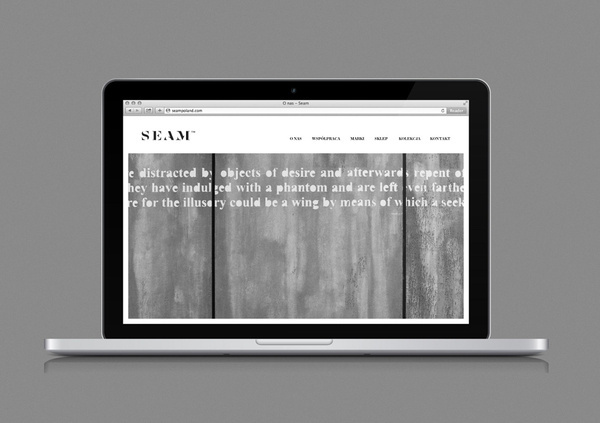 Logo and website designed by For Brands for fashion brand Seam #website #logo #branding