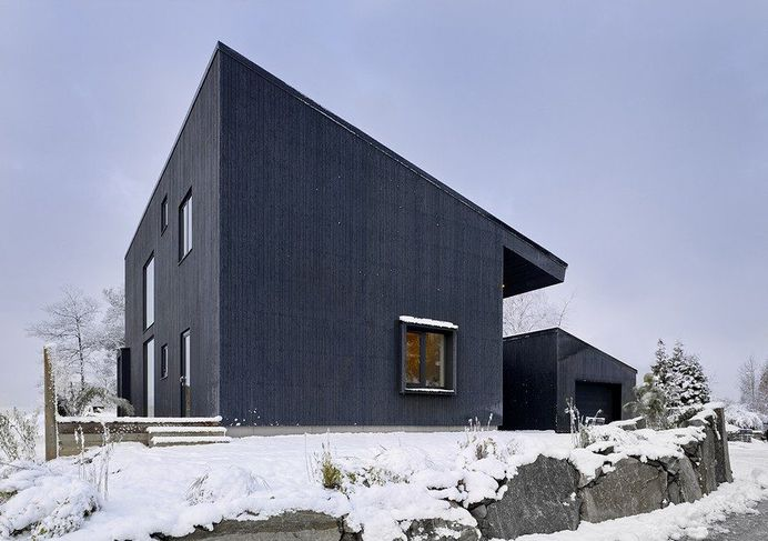 Contemporary Black Wooden House 1