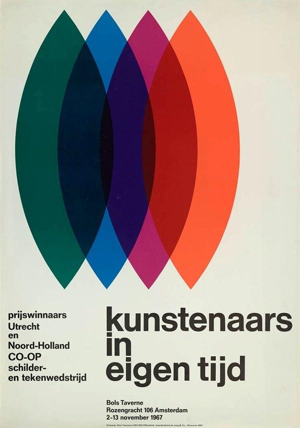 Otto Treumann — Kunstenaars in eigen tijd (1967) #minimal #poster