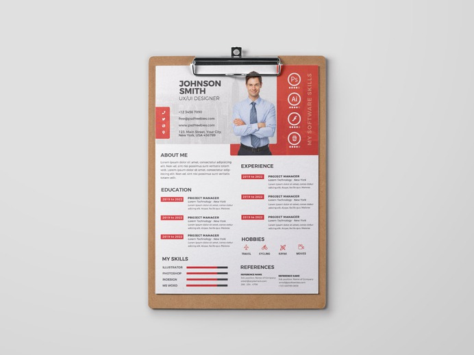 Free Formal PSD Resume Template