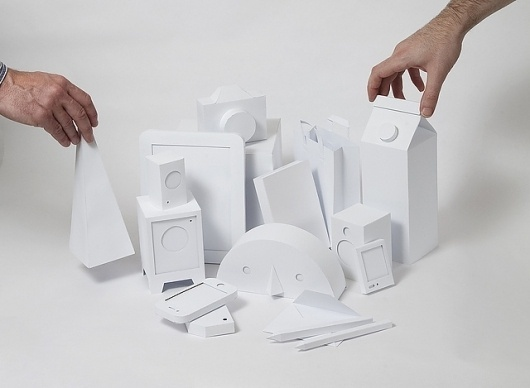 White paper objects for IM.SE - Works by Daniel Levy #daniel #paper #levy