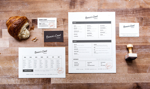 Brown's Court Bakery Brand Identity | Nudge