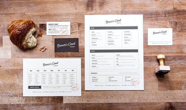 Brown's Court Bakery Brand Identity | Nudge #bakery #business #branding #card #menu #identity #ephemera