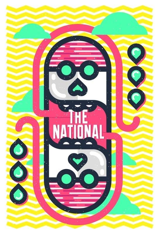 National #band #the #illustration #poster #national