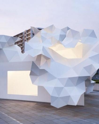 OTAKU GANGSTA #sculpture #white #geometric #architecture #angular