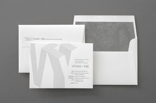 Graphic-ExchanGE - a selection of graphic projects #white #invitation #design #letterpress #envelope #gray #wedding