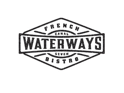 Waterways French Bistro 3 #badge #bistro #vintage #french #logo