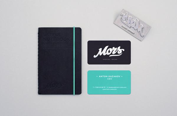 Mors Stationery #business #card #identity #stationery #notebook #blue #navy