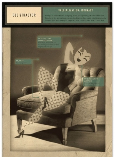design work life » Student Work: Katey Mangels: Phantom Calls Identity #design #typography