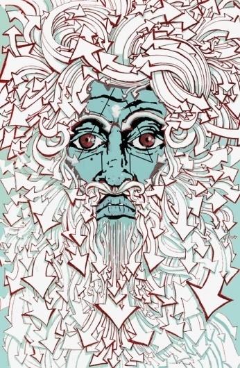 Alex.Hovey #arrows #illustration #face