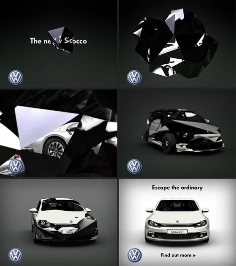 Volkswagen | Projects | ManvsMachine #scirocco #man #animation #machine