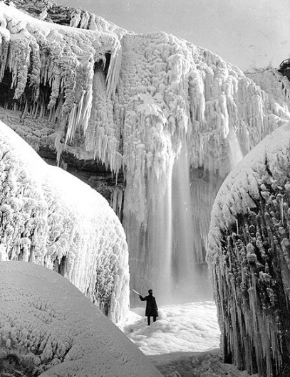 Coyote Blood #frozen #niagra #falls #1911 #ice #waterfall