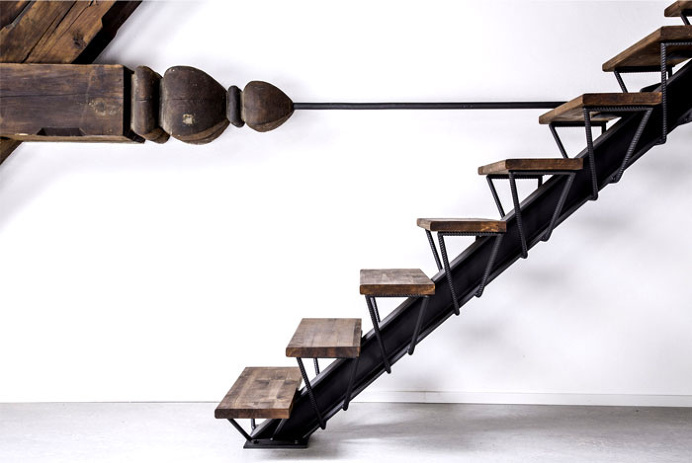 Studio Apartment Restoration by ORA Architects - #stairs, stairs