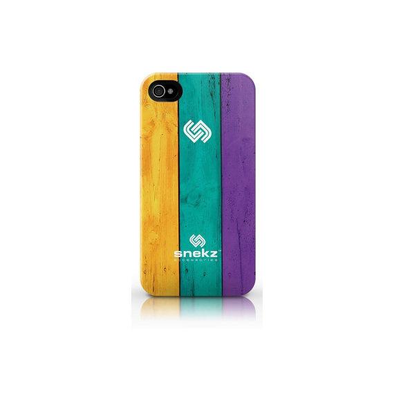 Painted Wood Six Design #phonecase #design