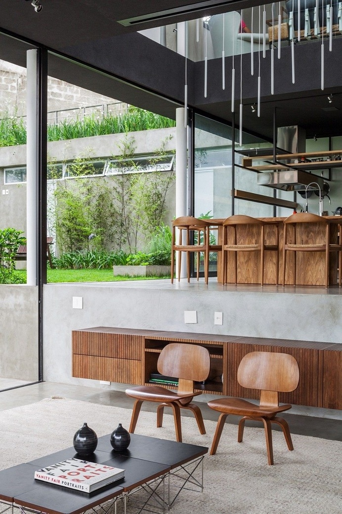 This São Paulo House Has a Mixed Structural Design that Combines Concrete with Steel 3