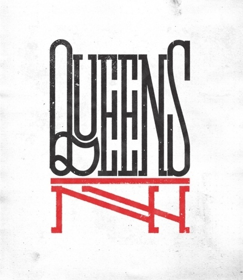 Typeverything.com - Â New print in shop:Â QueensNY,... - Typeverything #lettering