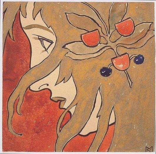 File:Kolo Moser - Profilbildnis eines Mädchens - 1987.jpeg - Wikimedia Commons #profile #a #girl #of #vienna #portrait #art #moser #koloman #secession