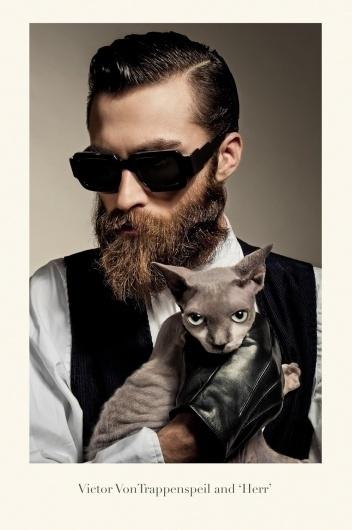 bangbangdot.com | Isson- School of Bauhaus 1934 #beard #portrait #sunglasses #cat