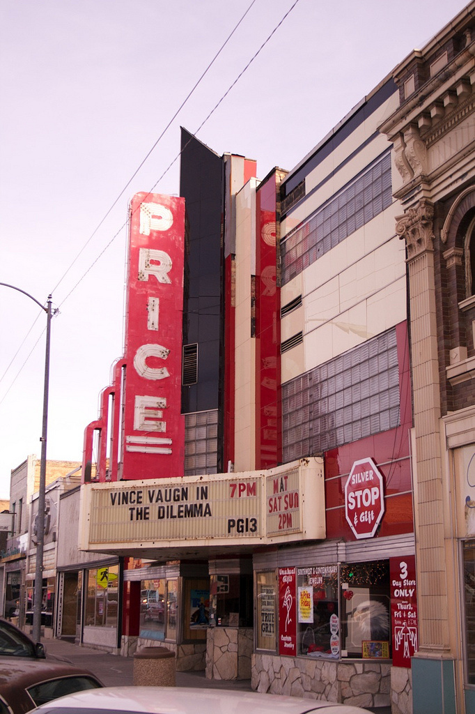 Price Movie Marquee | Flickr - Photo Sharing! #lettering #theatre #sign #painter #utah #price #signage #typography
