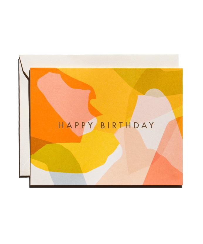 Modern #birthday #card #abstract
