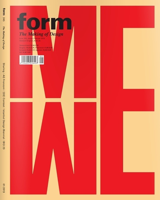 Form magazine cover #cover #editorial #magazine