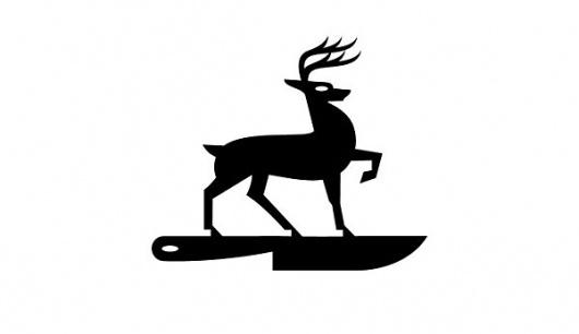 Eight Hour Day » Blog » Luke Bott #deer #design #black #stag #logo #knife